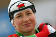 Дарья Домрачева заняла 2–е место в масс-старте на этапе Кубка мира по биатлону