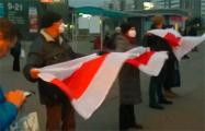 После Марша партизанов минчане устроили акцию на улице имени известного подпольщика