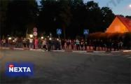 Жители Скидели вышли на акцию солидарности