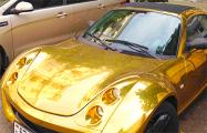 Фотофакт: Новый «золотой» автомобиль на улицах Минска