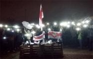Жители Боровлян устроили вечернее чаепитие под национальными флагами