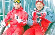 Путин и Назарбаев покатались на лыжах в Казахстане