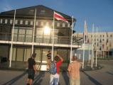 Фотофакт: бело-красно-белый флаг в таллинском порту