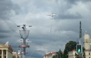 Видеофакт: В небе над Минском замечены шесть вертолетов