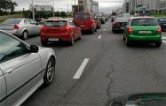 Сегодня водители блокировали движение в ключевых точках Минска