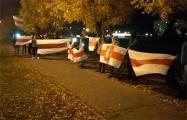 Жители Шабанов вышли на акцию с национальными флагами