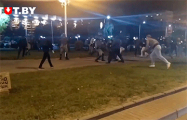 На Пушкинской протестующие прогнали ОМОН