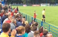 На матче «Крумкачоў» и минского «Динамо» болельщики скандируют «Жыве Беларусь»