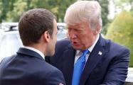 В Париже прошла встреча Макрона и Трампа