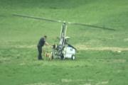 Почтальон на вертолете приземлился на лужайке у Капитолия
