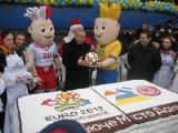 В Донецке испекли 200-килограммовый торт-логотип города Евро-2012
