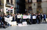 В центре Барселоны прошла акция солидарности с белорусами