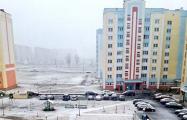 Фотофакт: весенний снег в Беларуси