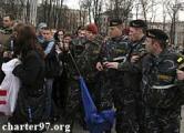 В Беларуси в День солидарности ОМОН избивает оппозицию и рвет флаги Евросоюза (Обновлено, фото, видео)