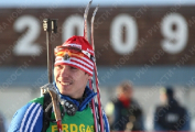 Евгений Абраменко занял 49-е место в гонке преследования на этапе Кубка мира по биатлону в Ханты-Мансийске
