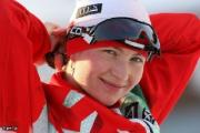 Дарья Домрачева заняла 1-е место в гонке преследования на этапе Кубка мира по биатлону в Ханты-Мансийске