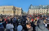 Россия: 42% участников акции в защиту Навального впервые вышли на протесты