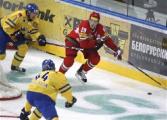 Белорусские хоккеисты второй день подряд по буллитам проиграли шведам в матче Евровызова