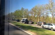 На трассе М5 под Минском — многокилометровый затор