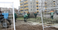 Жители Уручья вышли с дубинами против «Зеленстроя» (Фото)