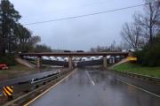 Порыв ветра свалил поезд с моста в Техасе