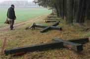 В Куропатах снова поломали кресты