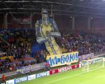 Фанаты БАТЭ встретили «Шахтер» огромным баннером «Да бою!»