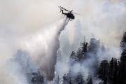 Пожар на трассе в Калифорнии уничтожил десятки машин