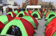 В столице Косово оппозиция установила палатки, требуя отставки правительства