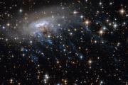 «Хаббл» заснял звездные струи спиральной галактики
