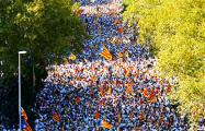 Сотни тысяч каталонцев вышли на марш за независимость