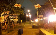Минчане украсили бульвар Толбухина в национальные цвета