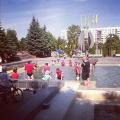 Футболисты «Дерри Сити» искупались в солигорском фонтане