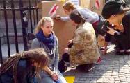 В Гданьске прошла акция солидарности с Беларусью