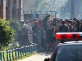 ОМОН задержал группу футбольных фанатов в Минске (Фото)