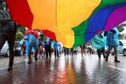 Активистам впервые удалось спокойно провести гей-парад в Черногории
