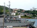 В Японии рыболовецкое судно протаранило военный корабль