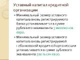 Минимальный уставный фонд для вновь создаваемых банков в Беларуси увеличен с 5 млн. до 25 млн. евро