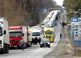 Очередь из грузовиков на границе с Польшей растянулась на 20 км