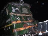 Грузовик столкнулся с электровозом на железнодорожном переезде в Кобринском районе