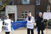 В Гааге пикетировали посольство Беларуси (Фото)