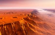 На Марсе обнаружено гигантское озеро замерзшей воды