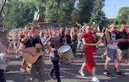 На Общенациональном Марше за Свободу «Перемен» сыграли на волынках