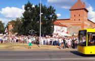 В Лиде колонна протестующих растянулась на полтора километра