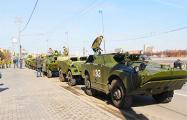 На Оршу выдвинулась колонна российской бронетехники