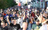 Жители Гродно маршировали до позднего вечера