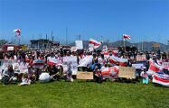 В Сан-Франциско белорусы поддержали Виктора Бабарико: фоторепортаж