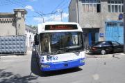 Первый троллейбус белорусско-молдавской сборки выпущен на линию в Кишиневе
