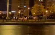 Минчане вышли на вечерний протест возле станции метро «Спортивная»