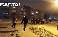 Жители Хатежино вышли на вечерний марш